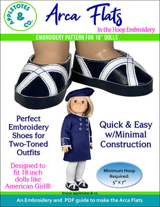 Arca Flats ITH Embroidery Patterns for 18 Inch Dolls