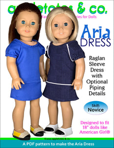 Aria Dress 18 Inch Doll Sewing Pattern