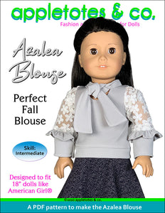 Azalea Blouse 18 Inch Doll Sewing Pattern