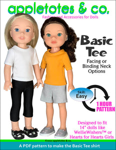 Basic Tee 14 Inch Doll Sewing Pattern