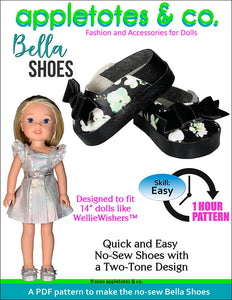 No-Sew Bella Shoes 14 Inch Doll Pattern