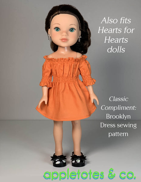 Bella Shoes 14 Inch Doll No-Sew Pattern - SVG Files Included