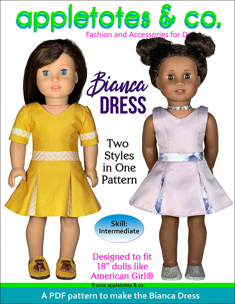 Bianca Dress 18 Inch Doll Sewing Pattern