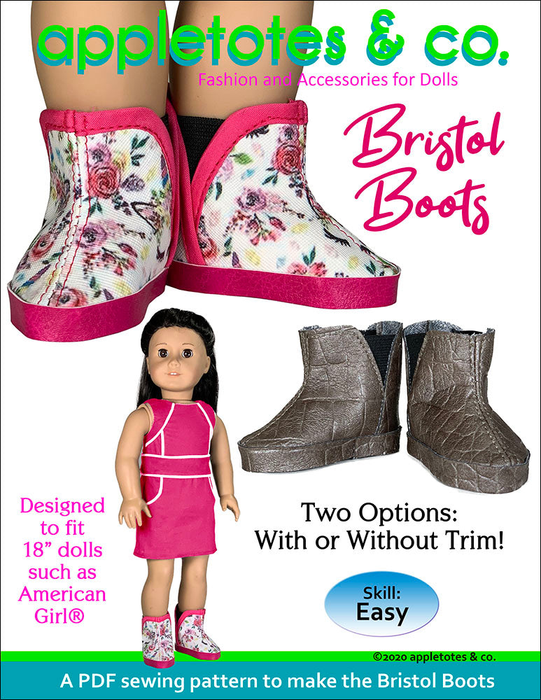 Bristol Boots 18 Inch Doll Sewing Pattern