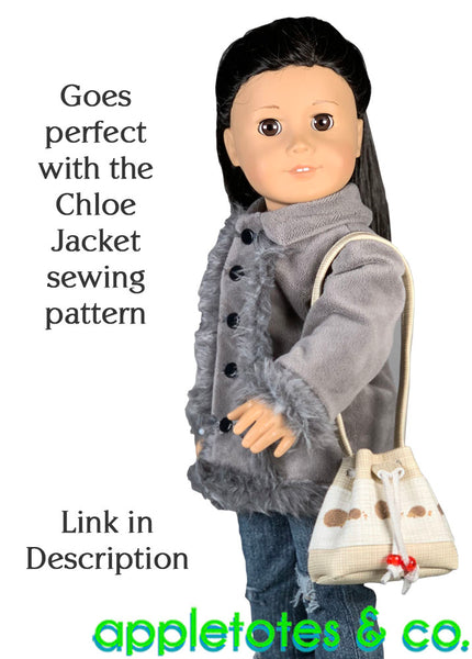 Bucket Bag Sewing Pattern for 18 Inch Dolls