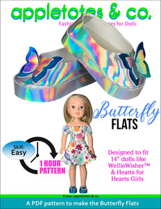 Butterfly Flats 14 Inch Doll Sewing Pattern