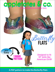 Butterfly Flats 18 Inch Doll Sewing Pattern
