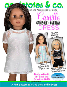 Camille Dress 18 Inch Doll Sewing Pattern