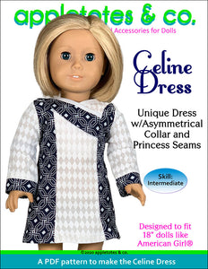Celine Dress 18 Inch Doll Sewing Pattern