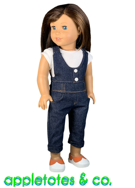 Charli Overalls Sewing Pattern for 18 Inch Dolls
