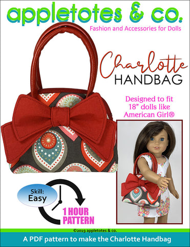 Charlotte Handbag Sewing Pattern for 18 Inch Dolls