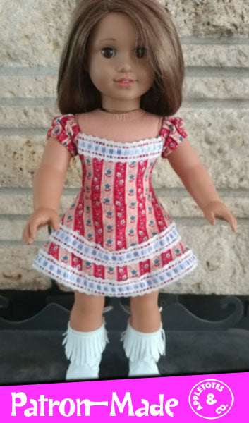 Cheyenne Dress Sewing Pattern for 18 Inch Dolls