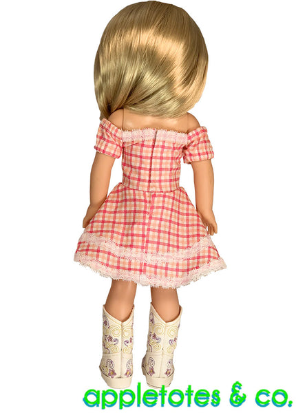 Cheyenne Dress Sewing Pattern for 14 Inch Dolls
