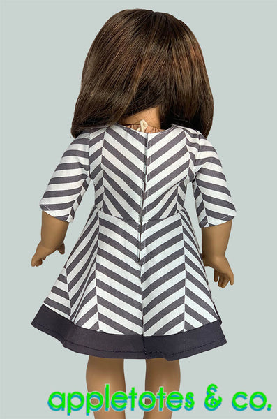 Corazon Dress Sewing Pattern for 18 Inch Dolls