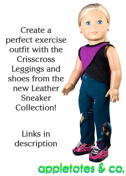 Cross Training Top Sewing Pattern for 18 Inch Dolls