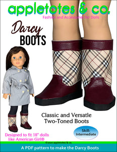 Darcy Boots 18 Inch Doll Sewing Pattern