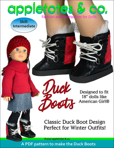 Duck Boots 18 Inch Doll Sewing Pattern