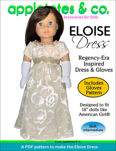 Eloise Dress 18 Inch Doll Sewing Pattern