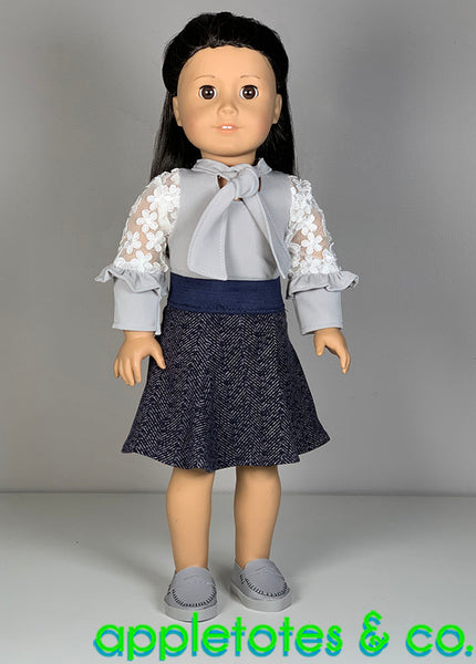 Erin Skirt 18 Inch Doll Sewing Pattern