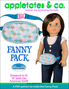 Fanny Pack Sewing Pattern for 18 Inch Dolls
