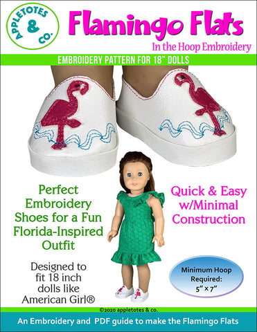 Flamingo Flats ITH Embroidery Patterns for 18 Inch Dolls