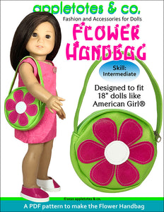 Flower Handbag Sewing Pattern for 18 Inch Dolls