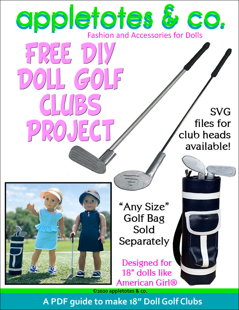 Free DIY Doll Golf Clubs Project for 18 Inch Dolls