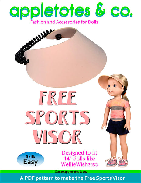 Free No-Sew Sports Visor Pattern for 14 Inch Dolls