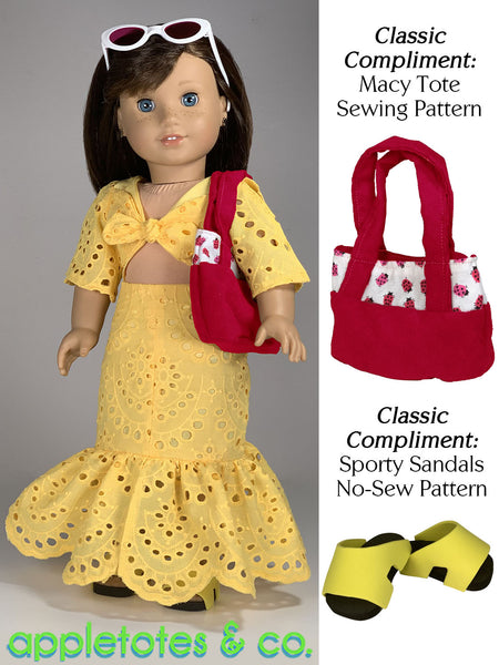 Giada Dress 18 Inch Doll Sewing Pattern