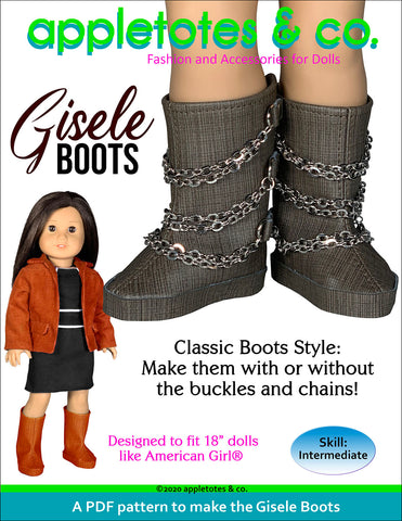Gisele Boots 18 Inch Doll Sewing Pattern