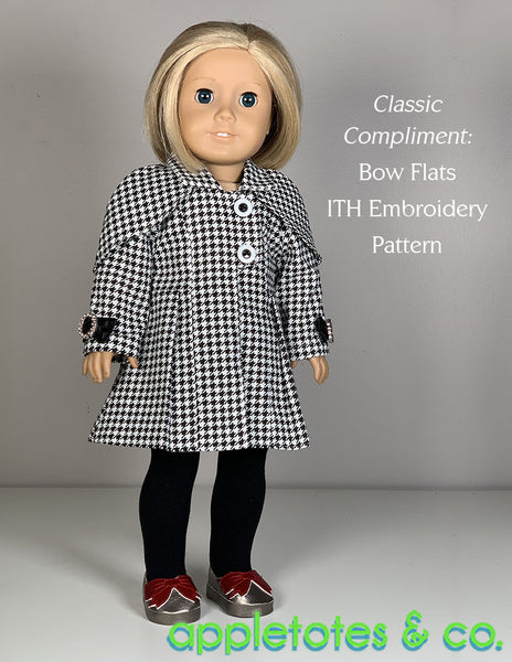 Holiday Coat 18 Inch Doll Sewing Pattern