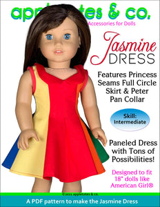 Jasmine Dress 18 Inch Doll Sewing Pattern