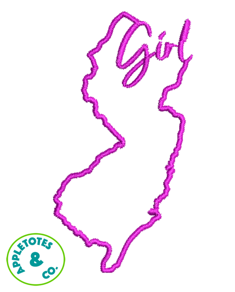 "Jersey Girl Machine Embroidery File for 18"" Dolls"