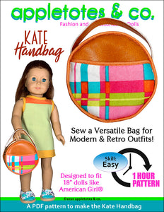 Kate Handbag Sewing Pattern for 18 Inch Dolls