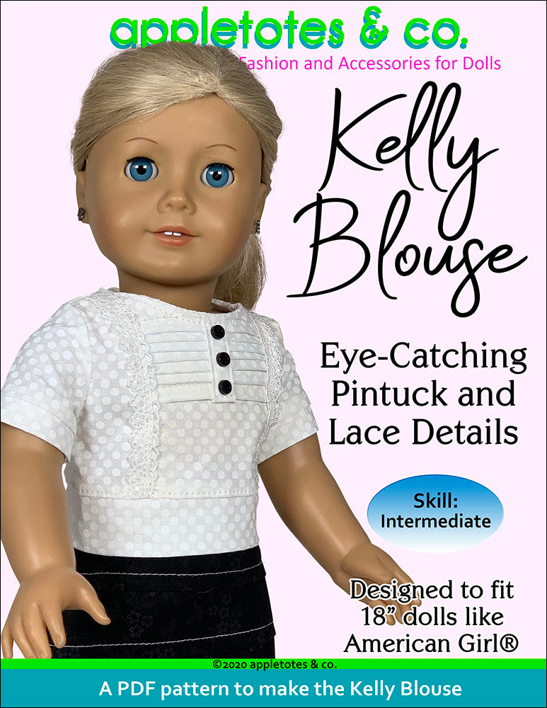 Kelly Blouse Sewing Pattern for 18 Inch Dolls