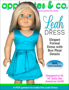 Leah Dress 18 Inch Doll Sewing Pattern