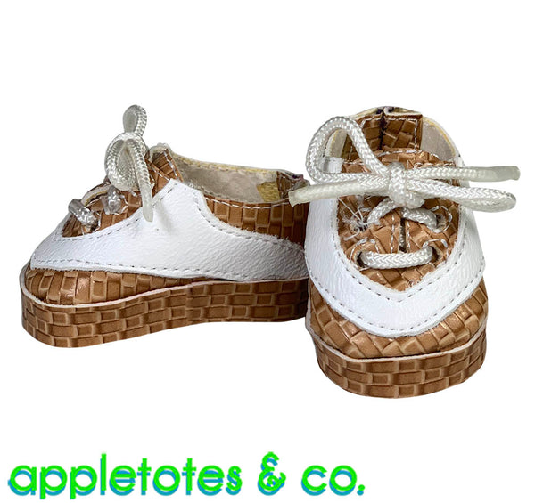 Lee Leather Sneakers ITH Embroidery Pattern for 14 Inch Dolls
