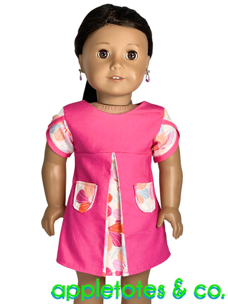 Lily Dress Sewing Pattern for 18 Inch Dolls