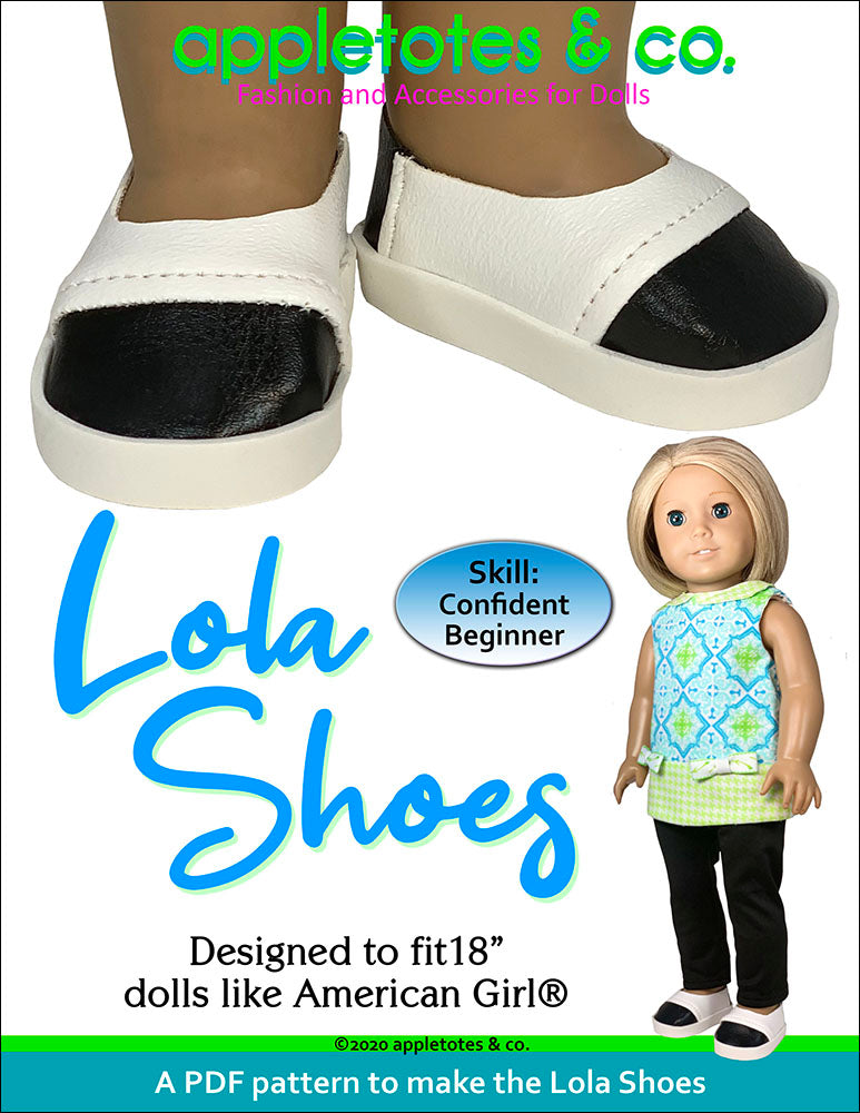 Lola Shoes Sewing Pattern for 18 Inch Dolls