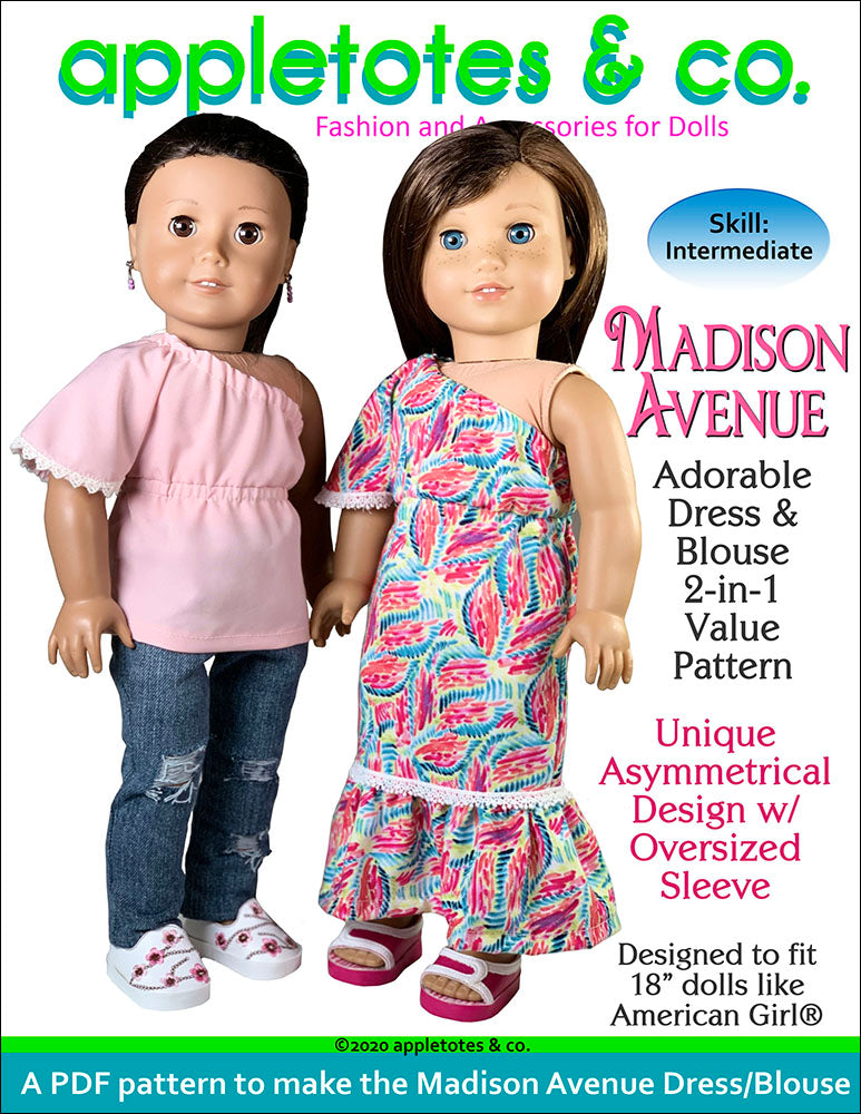 Madison Avenue 2-in-1 Sewing Pattern for 18 Inch Dolls