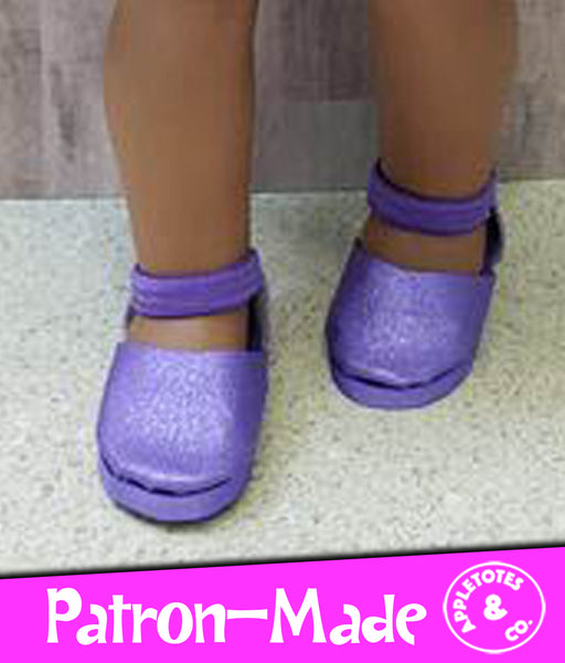 No-Sew Maggie Shoes 18 Inch Doll Pattern