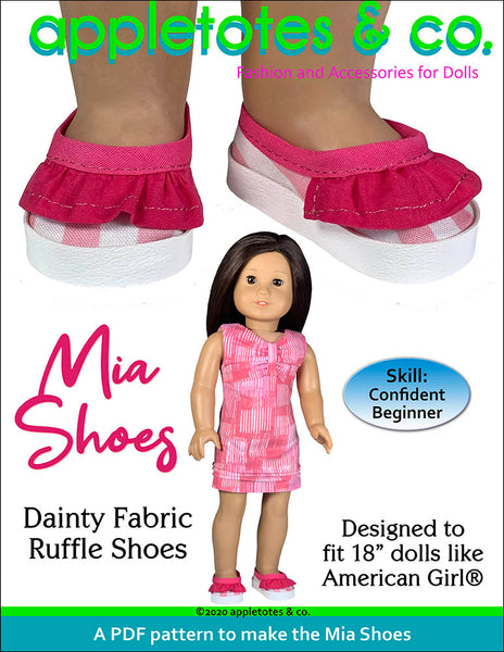 Mia Shoes 18 Inch Doll Sewing Pattern