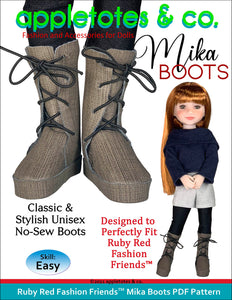 Mika Boots Ruby Red Fashion Friends™ Pattern
