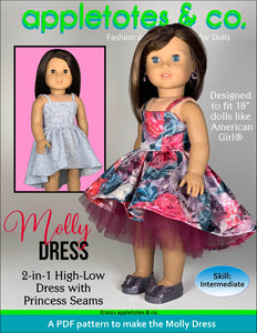 Molly Dress 18 Inch Doll Sewing Pattern