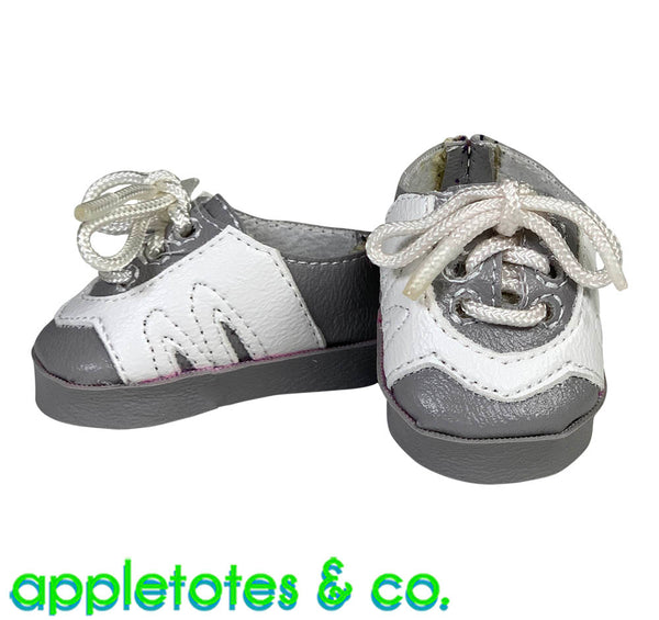Morgan Leather Sneakers ITH Embroidery Pattern for 14 Inch Dolls