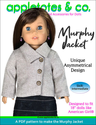 Murphy Jacket Sewing Pattern 18 Inch Dolls