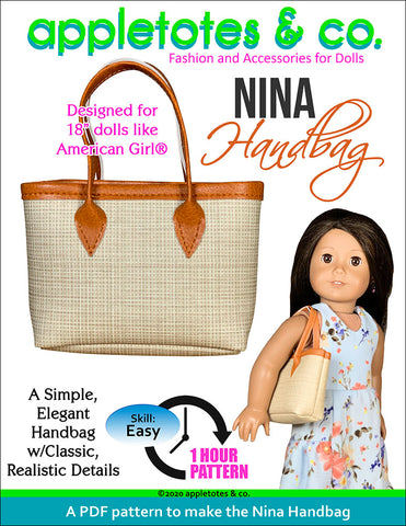 Nina Handbag Sewing Pattern for 18 Inch Dolls