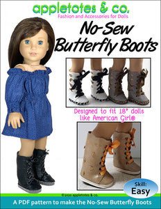 Try the No-Sew Butterfly Boots Pattern for 18 Inch Dolls for 60% Off - Limited Time!