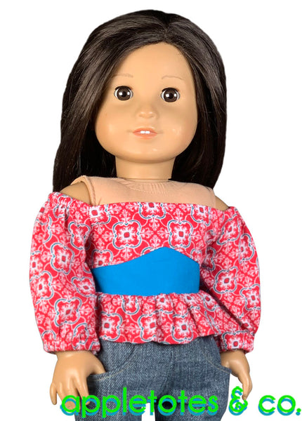 Olivia Blouse Sewing Pattern for 18 Inch Dolls