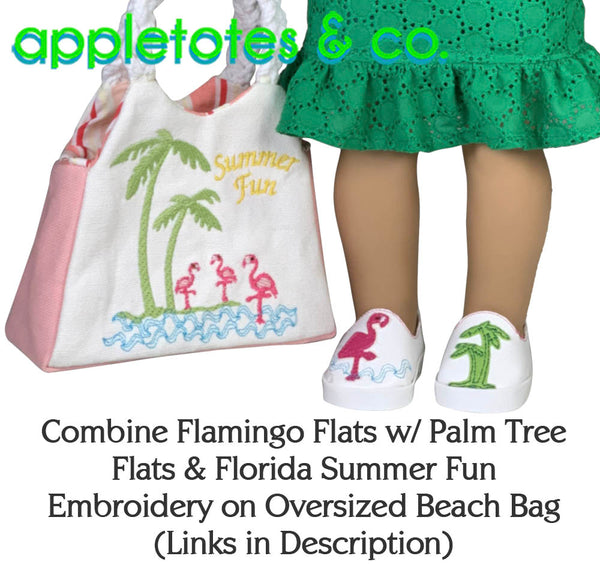 Palm Tree Flats ITH Embroidery Patterns for 18 Inch Dolls
